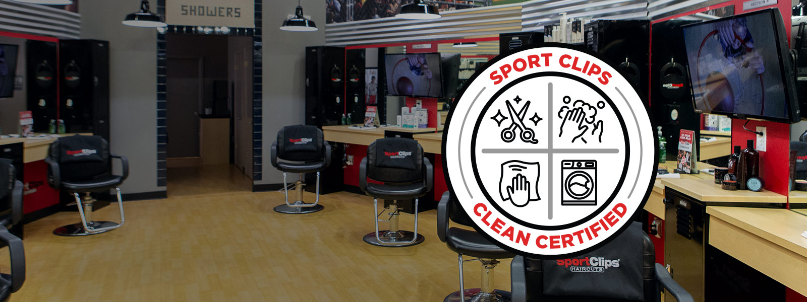 Sport Clips certified clean logo